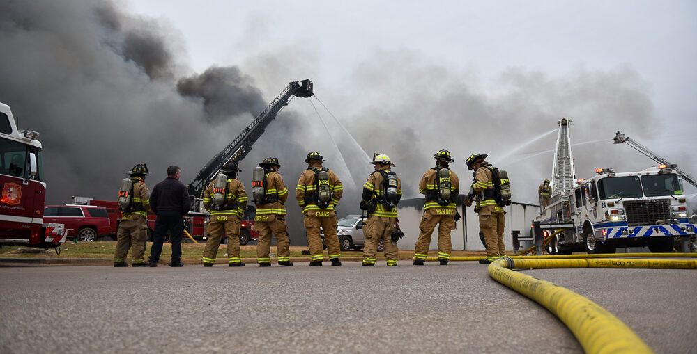 Haltom City and Euless Firefighters at 5 Alarm in Richland Hills